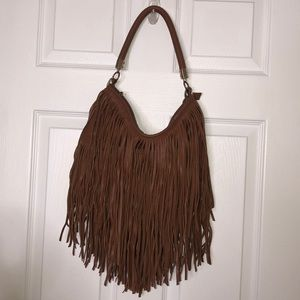 Brown H&M Fringe purse
